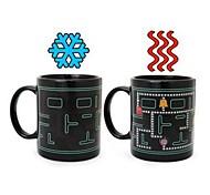 Retro 80er Jahre Videospiel-Becher Pacman Wärme Farbwechsel Kaffeetasse, Keramik (3.2x3.2x3.8 inch)