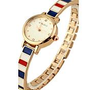 Women's Round Dial Alloy Band Quartz Bracelet Watch