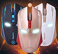 NAFFEE G5 6D Gaming Wireless 2.4Ghz Silence Mouse 2000DPI Iron Man