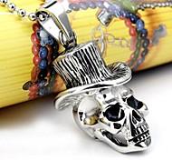 personalidad de la moda de titanio mr.skull acero collares colgantes de los hombres