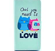 Owl Need Love Pattern PU Leather Case Cover with Stand Card Holder for Sony Xperia Z1 L39H