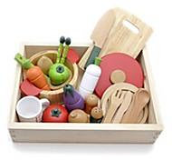 woody verduras puddy cocina de madera juego de simulación juguetes edcational