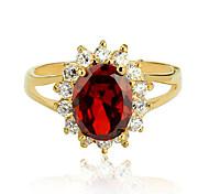 Plaqué Vente en gros kate engagement de cadeau de princesse bijoux de charme cadeau de Noël des femmes bague en or dame cz rouge