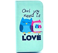 Owl You Need Love Pattern Full Body PU Leather Case Cover with Stand and Card Slot for LG G2 Mini