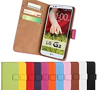 PU Leather Solid Color Case for LG Optimus G2