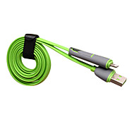 Devia 2 in 1 Micro USB + Lightning 8-Pin Male to USB2.0 Male Cable for iphone5s 5C Ipad4 Air 1M 3.28FT