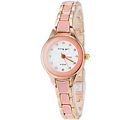 Women's Gold Alloy Band Quartz Bracelet Watch