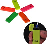 317 Multicolor Grinding Wheel Design Metal Refillable Butane Jet Torch Lighter Cigar Lighter Toys(Random Color)