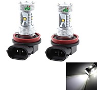 HJ  H11 40W 2500lm 6000-6500K Cree XB-D R3 Cool White Light Bulb for Car Foglight (12-24V, 2Pcs)