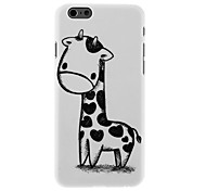 Black and White Giraffe Pattern PC Hard Back Cover for iPhone 6