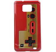 Red Cassette Pattern PC Hard Case for Samsung Galaxy S2 I9100