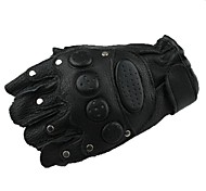 Outdoor High Quality Cycling Leather Short Finger Gloves
