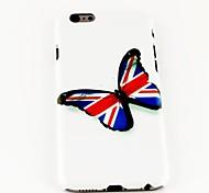 jack moda y modelo de mariposa TPU suave para el iphone 6