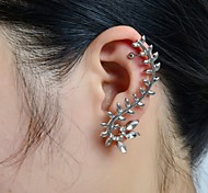 Stone Set Leaf Ear Cuff