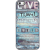 Live Hard Case Travel Design in alluminio per iPhone 4/4S