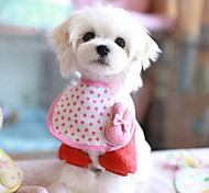 Pink Rabbit Pattern Saliva Towels for Pet Dogs