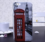 Big Ben and Red Telephone Booth Pattern Plastic Hard Cover for iPhone 6 Plus