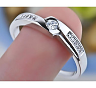 I FREE®Unisex Fashion S925 Silver Platinum Plated Couple Rings 2 pcs (1 pair) Promis rings for couples