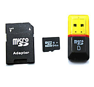 64GB Class 10 MicroSDHC TF Memory Card with SDHC SD Adapter and USB Card Reader