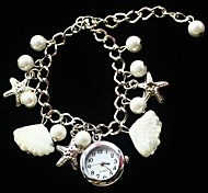 Women's Shell Quartz Movement Watch Assorted Colors