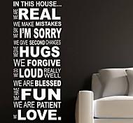 Citação regra casa decoração da parede adesivos de parede decalque jiubai ™