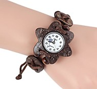 Fashionable Women's Hexagram-Shaped Coconut Wooden Bracelet Watch (1pc) Cool Watches Unique Watches