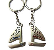 (A pair)Sailing Interesting High-grade Stainless Steel Keychain Symbol of Love