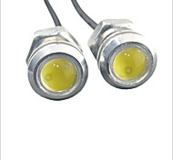 Carking™ 12V 1.5W 18MM Auto Car LED Eagle Eye DayTime Running Light Reverse Lamp-White Light