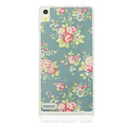 Floral Leather Vein  Pattern Plastic Hard Case for Huawei Ascend P6
