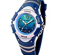 multifuncional esporte casual crianças TIME100 el colorido relógio digital de discagem rodada correia pu