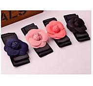 Sweet Camellia Shape Multi-layer Bowknot Silk Fabric Hair Pins Random Color
