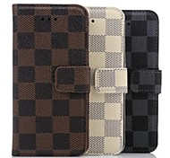 Overcheck Pattern Wallet Leather Case for iPhone 6(Assorted Colors)