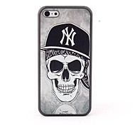 Skull in Hat Style Protective Back Case for iPhone 5C