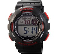 Children's Round Dial PU Band LED Digital Multifunction Sports Wrist Watch 30m Waterproof Cool Watches Unique Watches