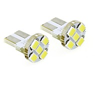 T10 1W 5x2835 SMD 35lm 6000K Cool White Lights LED Bulb for Car License Plate Door Dome Lamp (DC 12V , 2-Pack)