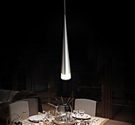 Modern Aluminum Pendant Light, 1 Light, Transparent Acrylic Metal Plating,110V-240V.