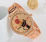 Women's New Rhinestone Rabbit Keith Rose Gold Watch