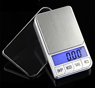 Precision Mini Electronic Balance Scale 500g/0.1g,Stainless steel 7.5X4.2X1.5CM
