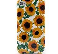Sonnenblumenmuster TPU Case für iPhone 4 / 4s