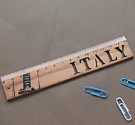 Vintage Hollow-out Wooden Ruler(Italy)
