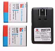 Link Dream  2 X Cell Phone Battery+Charger  for  Samsung i997 Infuse 4G  (2050 mAh)