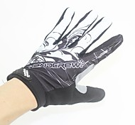 HANDCREW Cycling Skid Full Finger Black+White Microfiber Gloves