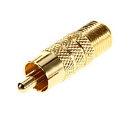 F Female to RCA Male Gold-plated Adapter