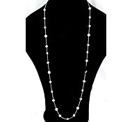 Pearl Beaded Long Necklace