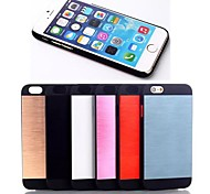 Brushed Metal PU Leather Cover for iPhone 6 (Assorted Colors)