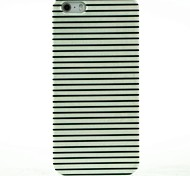 For iPhone 7 Plus Black & White Stripes Pattern Hard Case for iPhone 5/5S