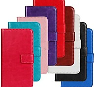 For Motorola Case Card Holder / Wallet / with Stand / Flip Case Full Body Case Solid Color Hard PU Leather Motorola