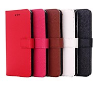 High Quality Lychee Pattern PU Leather Cover for iPhone 6 (Assorted Color)
