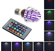 E26/E27 3 W Integrate LED 240 LM RGB A Remote-Controlled Globe Bulbs AC 85-265 V
