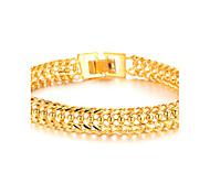 Coole Domineering 18 K Gold Schmuck Super Classic Jungen Armband Texture